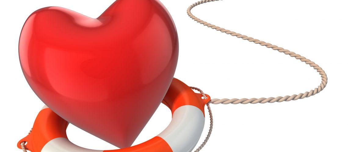 saving love marriage relationship - heart on lifebuoy